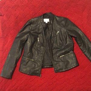 Black Non-leather moto jacket